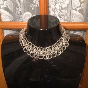 Liz Claiborne Silver Loose Choker Necklace